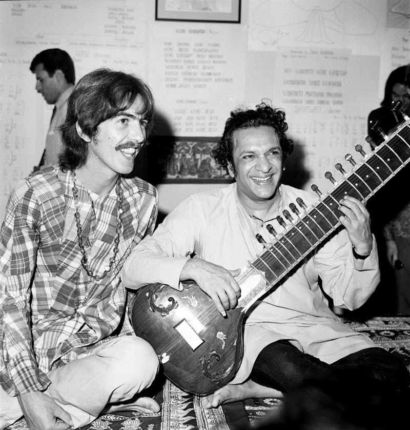 George Harrison és Ravi Shankar