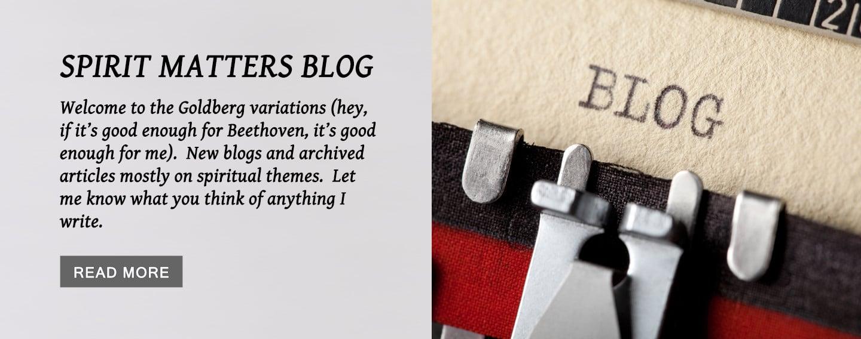 Spirit Matters Blog